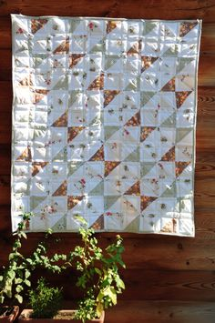"Mata dla dziecka,76cm x 86cm, 100% bawełna. This sweet, handmade baby quilt is made using 100% cotton fabric.  It measures approximately 3o"" x 34"" patchwork"