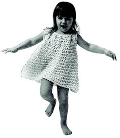 NEW! Loop Stitch Play Dress crochet pattern from American Thread, Star Book 218.
