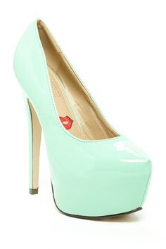 Mint Platform Pumps / red kiss
