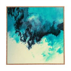 DENY Designs Painted Clouds V by Caleb Troy Framed Painting Print & Reviews | Wayfair