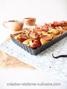 Tarte moelleuse aux figues Sans Gluten Sans Lactose, Raw Vegan, Quiche, French Toast, Gluten Free, Sweets, Bread, Tour, Breakfast