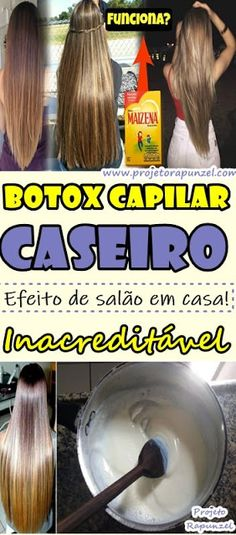 Homemade Cornstarch Botox Botox: Unbelievable Salon Effect! With this homemade hair botox recipe you will get more hydrated, aligned, frizz-free and volume-free strands. Beauty Makeup, Hair Makeup, Hair Beauty, Curly Hair Tips, Curly Hair Styles, Girl Blog, How To Make Hair, Spa Day, Hair Hacks