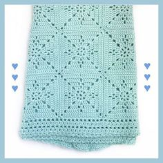 Crochet Blanket Pattern – Arielle's Square – Baby Blanket – Easy Granny Square – Crochet Throw Afghan – Pattern by Deborah O'Leary Patterns This listing is for a CROCHET PATTERN – Arielles Square Blanket. Granny Square Crochet Pattern, Afghan Crochet Patterns, Crochet Afghans, Crochet Square Blanket, Crochet Squares Afghan, Crochet For Beginners Blanket, Baby Blanket Crochet, Crochet Baby Blankets, Point Granny Au Crochet