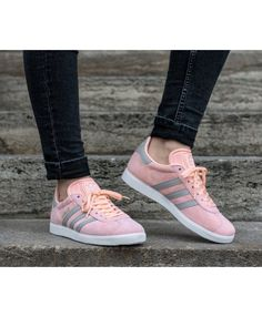 reputable site eb89d eebdc Adidas Gazelle W Haze Coral Clear Granite White Trainers Clearance