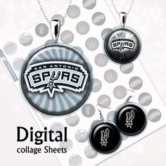 NBA . San Antonio Spurs. Digital Collage Sheet . от MyMidnightMoon