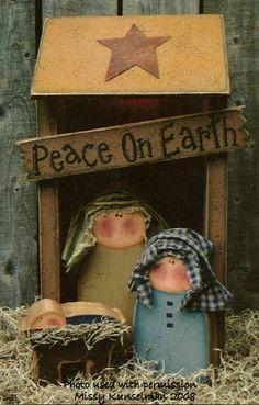 001191 (1) Chunky Nativity Set-Nativity, christmas, wood crafts, crafts, wood blanks, unfinished wood