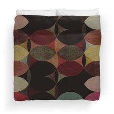 Circle V Duvet  #duvet #homedecor #bedroom #pattern #vintage #retro