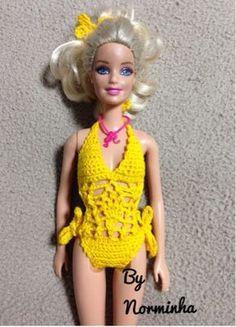 """Fiz no próprio corpo da boneca ... razão pela qual, não tenho gráficos nem PAP; Minha """"Belinha"""" vai amar!!! Rs... ..."""