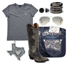 """""""Country girl"""" by lisadharp on Polyvore featuring Miss Me, Ralph Lauren, Corral, BERRICLE, Ray-Ban, Amrita Singh, country, women's clothing, women and female"""