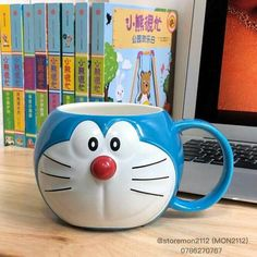 Doraemon Doraemon, School Life Quotes, Fb Covers, Pottery Mugs, Cute Mugs, Arts And Crafts, Kawaii, Japanese, Wallpaper