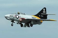 F-9 Cougar Us Navy Aircraft, Us Military Aircraft, Military Jets, Air Fighter, Fighter Jets, Grumman Aircraft, Reactor, War Jet, F4 Phantom