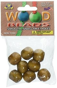 Wood 179274: Pepperell Pwb20-02 Round Wood Beads 20Mm 8/Pkg - Maple -> BUY IT NOW ONLY: $52.39 on eBay!