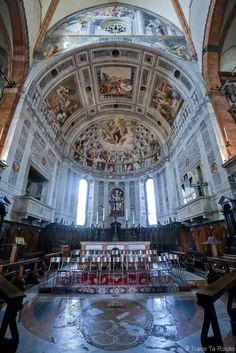 Peintures trompe-l'oeil - Intérieur Abside et Choeur de la Cathédrale Santa Maria Matricolare de Vérone - Duomo di Verona - Renaissance Italienne