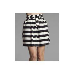 5cce68a54f7d0 Black and White Striped Skirt