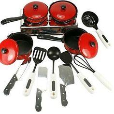 13 Pack Cooking Chef Mini Kitchen Pretend for PreSchool Baby Child Toys MaterialPlastic ColorBlack, Red Dimensions (cm)40*30*40cm #babytoyscheapest #babytoys #cheapesttoys #toys #bridgat.com