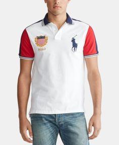 Men Polo Ralph Lauren Crewneck Yacht Club Flag Classic Fit Tee T Shirt XL XXL