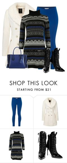 """""""Winter in Black and Blue"""" by stephaniefb ❤ liked on Polyvore featuring White Stuff, Blugirl, Giuseppe Zanotti and Longchamp"""
