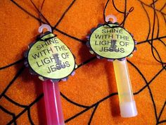 "Free printable ""Shine with the Light of Jesus"" glow-stick tags"