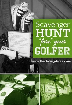 Sassy Suggestion: Golf themes scavenger hunt. Perfect party idea to entertain golfers of all ages! Re-pinned by www.apebrushes.com. GREENS BRUSHES THAT REALLY WORK!
