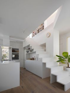 UME Architects Design A Spacious And Clean Home In Kyoto, Japan. Kitchen  Under StairsArchitects ... Part 61