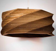 DIY 20 Creative Cardboard Lamp Ideas | http://www.designrulz.com/design/2015/02/diy-20-creative-cardboard-lamp-ideas/