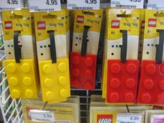 Lego Luggage Tags! at Officeworks Bell St Preston