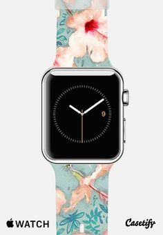 Painted Hibiscus Patchwork Pattern Apple Watch Band case by Micklyn Le Feuvre | Casetify