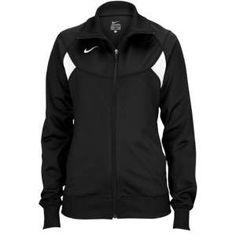 Nike Pasadena II Full Zip L/S Warm-Up Jacket - Women's - Soccer - Clothing - Black/White/White