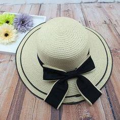 Big Bow Straw Beach Hat