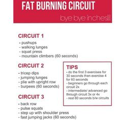 true and great motivation.# Try to do this fat-burning circuit from Fab Fit Cities 2 or 3 times a week and you'll burn fat and tone your muscles which is the perfect recipe for melting away inches! Fitness Motivation, Fitness Tips, Workout Fitness, Chin Workout, Fitness Mat, Fat Workout, Yoga, Crossfit, Health And Wellness