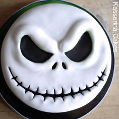 "A cost effective Halloween birthday cake featuring the hero of Tim Burton's The Nightmare Before Christmas. For a quick ""how to"" guide, see my blog at: http://kasserina.blogspot.co.uk Happy Halloween everyone. XXXX"