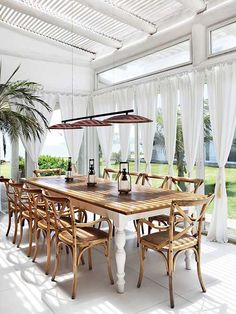 Dining al fresco | Ballard Design Constance chairs