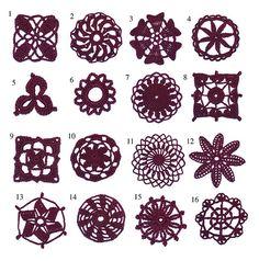Ravelry: E-Book - 16 Individual Lace Motifs pattern by Renate Kirkpatrick