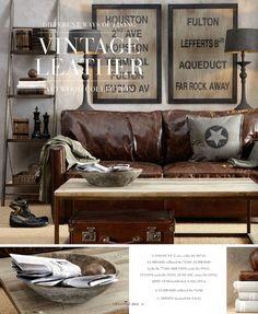 tan leather sofa gray walls - Google Search