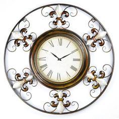 Beautiful Fleur des Lis clock