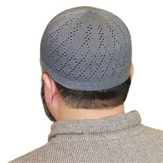 Cotton Blend Kufi Muslim Prayer Mens Skull Cap Islamic Hat Knit Topi - Available in different Color