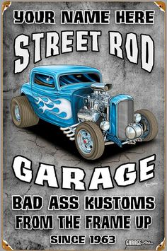 Click to find out more about Street Rod Garage Personalized Sign
