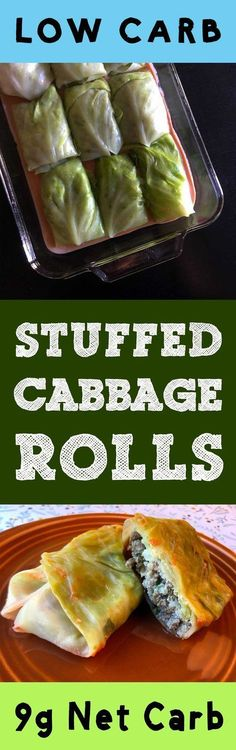 """This Low Carb Stuffed Cabbage Roll recipe is Low Carb, Keto, Paleo, THM, Atkins, Banting, LCHF, Sugar Free and Gluten Free. In Pittsburgh, we call these babies """"halupki""""."""