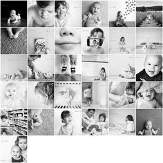 a month of photos - love the b&w mishmash and grid set up