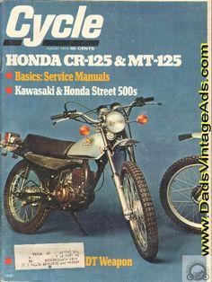 1973 Honda CR125M Motocross MT 125 Enduro Road Tests Vintage MotorcyclesMotorcycle PostersCafe