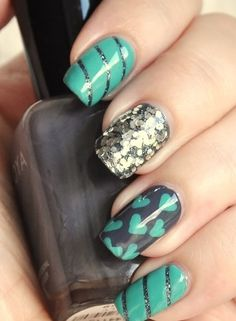 Funky Printed Nails.