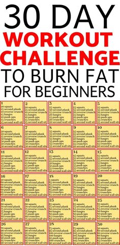 Looking for a workout plan you can do at home to burn fat? With this simple 30 d. Looking for a workout plan you can do at home to burn fat? With this simple 30 day challenge at home, you're getting Reto Fitness, Fitness Herausforderungen, Sport Fitness, Fitness Weightloss, Fitness Workouts, Physical Fitness, Health Fitness, Workout Plan For Beginners, At Home Workout Plan