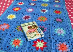 Gorgeous Madonna Blue Baby Granny Square Crochet by Thesunroomuk, £25.00