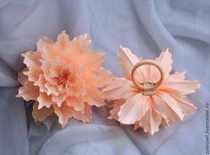 """Купить Резинки для волос """"Персиковый десерт"""" - бежевый, персиковый, Персиковый цвет, украшения ручной работы"""