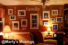 Gallery Wall with vinyl words
