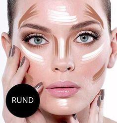 Contouring: Rundes Gesicht
