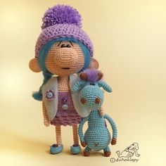 doll & blue giraffe