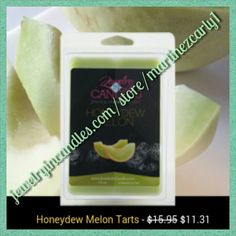 Honeydew melon wax tart