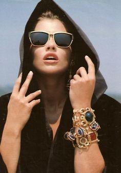 Amica Italia, May 1991  Model : Daniela Pestova  #sunglasses