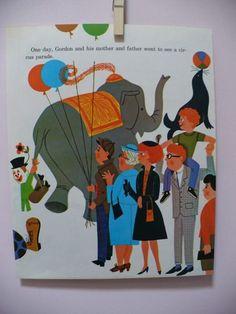 vintage kids illustration